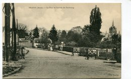 CPA  02 : BRAINE   Le Pont Et Passage à Niveau  A  VOIR   !!!! - France