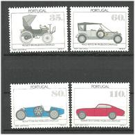 Portugal 1991 Cars, Peugeot (1899), Rolls-Royce (1911), Bugatti 35 B (1930), Ferrari 195 Inter 1950 Mi 1888-1891 MNH(**) - 1910-... Republic