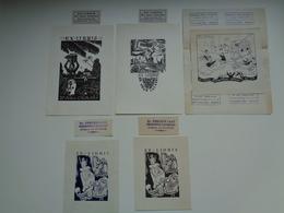 Document ( 2929 )  Lot De 5  Ex - Libris  Espagnol  Espagne  Spain  Spanje Madrid  Barcelona - Ex Libris