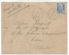 GANDON 4FR50 SEUL LETTRE ST JEAN DES GUERETS 7.7.1947 ILLE ET VILAINE DERNIER JOUR TARIF A 4FR50 - 1945-54 Marianne De Gandon