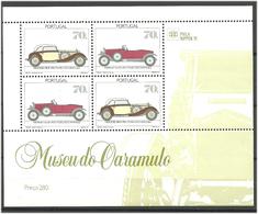 Portugal 1991 Cars, Mercedes 380K (1934), Hispano-Suiza (1924)  Mi Bloc 81 MNH(**) - 1910-... Republic