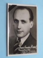"""Toneelspeler Frans VAN DEN BROECK > Elsene 19 Mar 1919 - Antwerpen 25 Maart 1950 ( Foto Studio """"RAC"""" ) Form. PK/CP ! - Todesanzeige"""