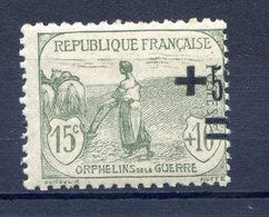 TIMBRE FRANCE SERIE ORPHELINS LUXE** GOMME ORIGINALE N°164 - Ungebraucht
