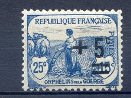 TIMBRE FRANCE SERIE ORPHELINS LUXE** GOMME ORIGINALE N°165 - Ungebraucht