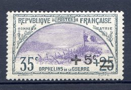 TIMBRE FRANCE SERIE ORPHELINS LUXE** GOMME ORIGINALE N°166 - Ungebraucht