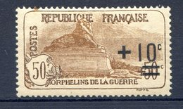 TIMBRE FRANCE SERIE ORPHELINS LUXE** GOMME ORIGINALE N°167a - Ungebraucht