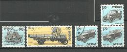 Sweden 1980 History Of Swedish Automotive Engineering, Cars   Mi 1118-1120, 1123, Cancelled(o) - Svezia