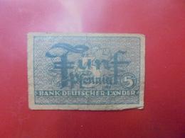 Bank Deutscher Länder : 5 PFENNIG 1948 CIRCULER (B.5) - [ 7] 1949-… : RFA - Rep. Fed. Tedesca