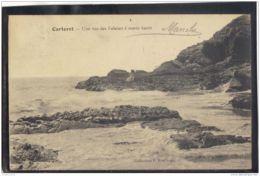 50196 . CARTERET . UNE VUE DES FALAISES  A MAREE HAUTE  . 1913 - Carteret