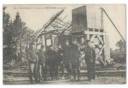 SENTHEIM (68, Haut-Rhin - La Gare Bombardée - Militaires - Soldats - Officiers - Haute-Alsace - Ed. Chadouine Belfort - Non Classificati