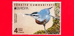 TURCHIA - Usato - 2019 - Europa - Uccelli - Birds - Picchio Muratore Di Krüper (Sitta Krueperi) -  4 - 1921-... Republiek