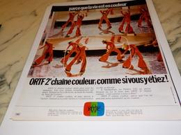 ANCIENNE PUBLICITE ORTF 2 EME CHAINE COULEUR  1972 - Autres