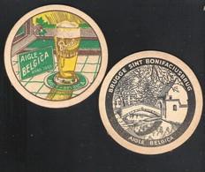 OUD Bierviltje - Sous-bock - Bierdeckel : BIEREN B A B - AIGLE BELGICA - BRUGGE - SINT BONIFACIUSBRUG  (B 312) - Sous-bocks