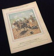 Ancien Protège-cahier Illustré Récits Patriotiques Sur La Guerre De 1870-71 Bataille De Sedan - Protège-cahiers