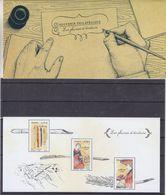 France - Bloc Souvenir 130 / 130 A ** - Plumes D'écriture - Valeur 28 Euros - Faciale 4,20 € - Blocs Souvenir