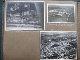 Album D'un Aviateur 76 Photos Aériennes Années 30 Paris éboulement Lyon Marseille Autodrome Montléry Bagne île De Ré +++ - Albums & Collections