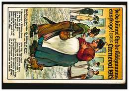 Karikatur-AK Carneval 1913 ... De Kääzmanns Ens Froge! CÖLN 13.1.1913 - Humor