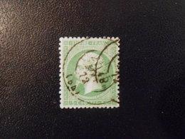 FRANCE YT20 NAPOLEON III 5c. Vert Cachet à Date - 1862 Napoléon III