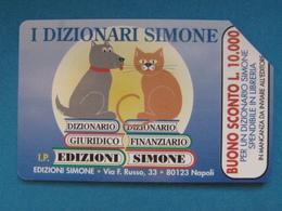 ITALIA SIP - 3255 C&C 164 GOLDEN - PRIVATE PUBBLICHE - SIMONE CANE E GATTO LIRE 2.000 - USATA - Italië