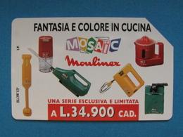 ITALIA SIP - 3277 C&C 188 GOLDEN - PRIVATE PUBBLICHE - MOULINEX FANTASIA E COLORE - USATA - Italië