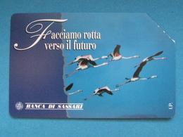ITALIA TELECOM - 3376 C&C 297 GOLDEN - PRIVATE PUBBLICHE - BANCA DI SASSARI - USATA - Italië