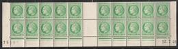 680 2F. VERT JAUNE MAZELIN - BAS DE FEUILLE De 20 Daté 22.7.46 - 1945-47 Ceres Of Mazelin