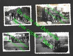 Brignoles / Vins Sur Caramy Var / Ouvriers Sur Voies Révisions & Ballastage Train Rails 12 Photos De Famille Années 40 - Trains