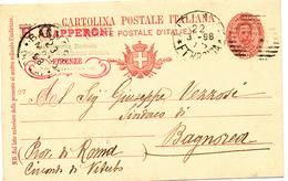 1898 FIRENZE CANNOCCHIALE A SBARRE USO TARDIVO + CAPPERONI STABILIMENTO MUSICALE - Storia Postale
