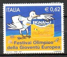 ITALIE. Timbre Oblitéré De 2005. Festival Olympique De La Jeunesse Européenne. - 6. 1946-.. Repubblica