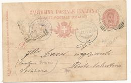 1899 BOSCO MARENGO ALESSANDRIA PIEMONTE TONDO RIQUADRATO CON TESTOX LA SVIZZERA - Storia Postale