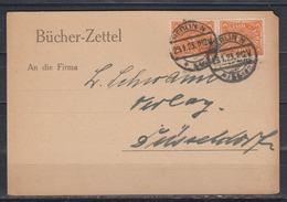 Dt.Reich Bücherzettel Ab Berlin/29.1.23 Mit 2x 227 Nach Düsseldorf - Briefe U. Dokumente