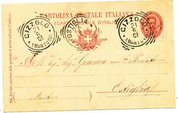 1901 CIZZOLO MANTOVA TONDO RIQUADRATO CON TESTO - 1861-78 Victor Emmanuel II