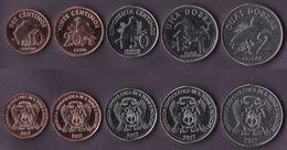 Sao Tome And Principe 5 Coins Set 2017 - São Tomé Und Príncipe