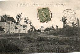 Evran -  L' école  Communale  Des  Garçons  La  Mairie  L' église. - Evran