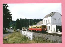 Photo Gedinne  = Train  En  Gare - Trains