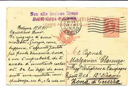 1915 BOLOGNA BANDIERA + NON ALLA SEZIONE TRENO DEL 6° CORPO D'ARMATA - 1900-44 Vittorio Emanuele III