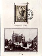 FRANCE Carte Journée Du Timbre 1939 METZ Avec Vue De La Cathédrale Yvert N° 420 - 1930-39
