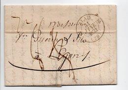- Lettre ALAIS (Alès / Gard) Pour LYON 31 JANV 1832 - Cachet Type 12, Avec Demi-fleurons - Taxes Manuscrites A ETUDIER - - Marcophilie (Lettres)