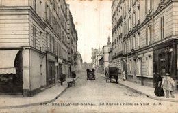 NEUILLY SUR SEINE LA RUE DE L HOTEL DE VILLE - Neuilly Sur Seine