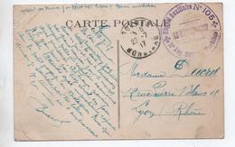 "1917 - CP FM De GOURIN (MORBIHAN) Avec CACHET MILITAIRE ""HOPITAL AUXILIAIRE N° 105 / 11° REG. GOURIN"" - Postmark Collection (Covers)"