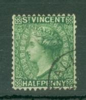 St Vincent: 1885/93   QV    SG47a     ½d   Deep Green   Used - St.Vincent (...-1979)