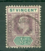 St Vincent: 1902   Edward    SG76     ½d   Used - St.Vincent (...-1979)