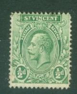 St Vincent: 1921/32   KGV    SG131     ½d     Used - St.Vincent (...-1979)
