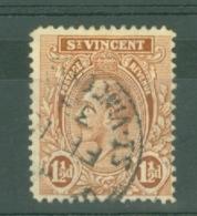 St Vincent: 1921/32   KGV    SG132b     1½d     Used - St.Vincent (...-1979)