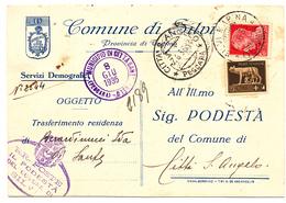 1935 SILVI TERAMO  CARTOLINA CON CARTIGLIO ARALDICO - 1900-44 Victor Emmanuel III