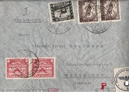 !  Luftpostbrief Bolivien, Par Avion, Airmail Cover, Wiesbaden, Judaica, Adresse, OKW Zensur, Censure, Censor, Censura - Bolivia
