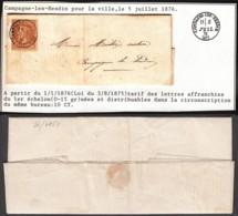 France - LAC Yv.28 De Campagne-les-Hesdin 05/07/1876 (RD100)DC5603 - 1863-1870 Napoléon III. Laure