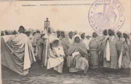 ***  CAMPAGNE DU MAROC *** CASABLANCA Nobles Marocains Attendant Sur Les Quais L'arrivée Du Général Lyautey TTB - Otros