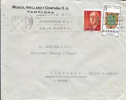 ESPAGNE  - PAMPLONA -  - 1966 -  LETTRE POUR LA FRANCE DE MUGICA ARENNANOY - 1961-70 Briefe U. Dokumente