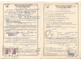 Chemin De Fer Certificat Pour L'obtention D'un Abonnement Social - Chemins De Fer